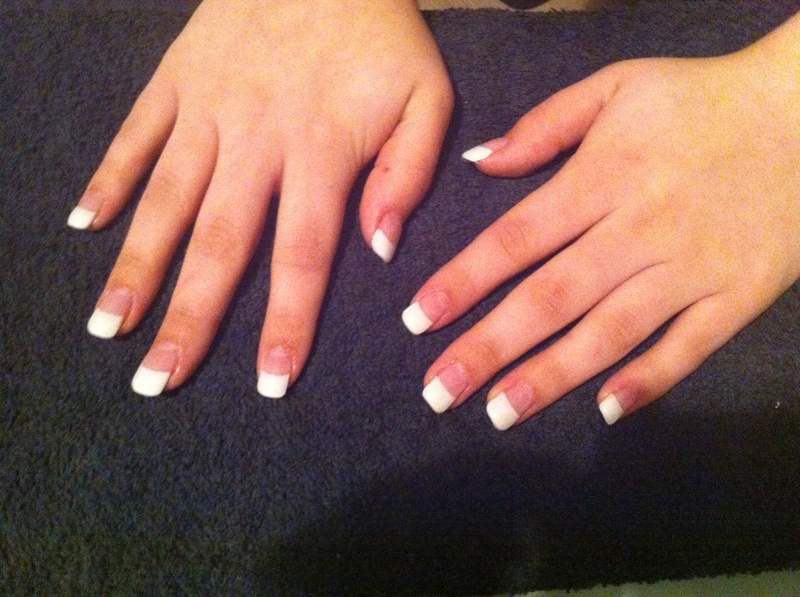 Full Set Of Gel Nails, White Tips